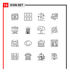 Group 16 outlines signs and symbols vector