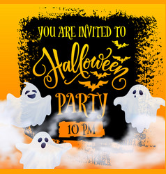 halloween party invitation banner vector image