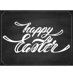 Happy Easter Chalk Lettering vector