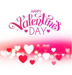 happy valentine s day feelings and love design vector image