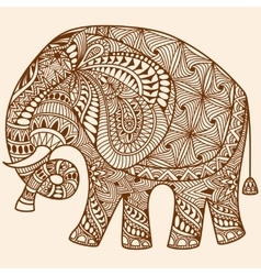Henna mehndi decorated Indian Elephant vector image