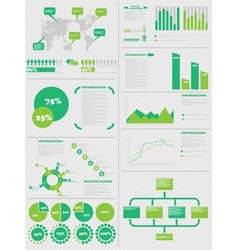 INFOGRAPHIC DEMOGRAPHICS 5 GREEN vector image