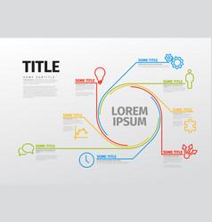 Infographic schema template vector
