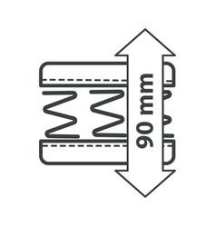 Inner springs orthopedic mattress materials vector