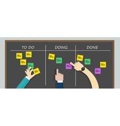 Kan ban to do list board kanban task vector