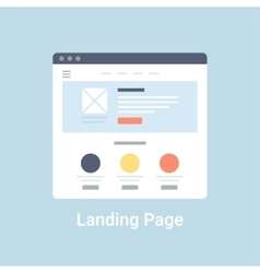 Landing Page Wireframe vector image