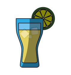 Lemonade glass cold vector