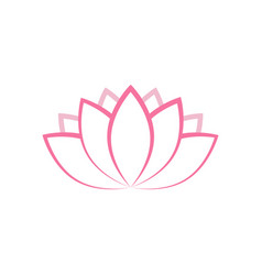 lotus icon design template isolated vector image