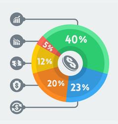 money infographics flat style vector image