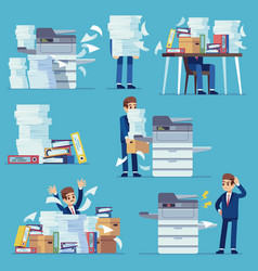 office documents copier printer printing office vector image