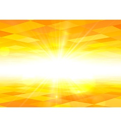 Orange sky summer view background vector image