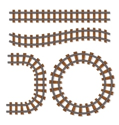 Passenger train rail tracks brush railway vector