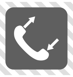 Phone Talking Rounded Square Button vector image