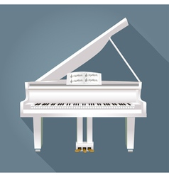 piano with notes of white on a gray background vector image