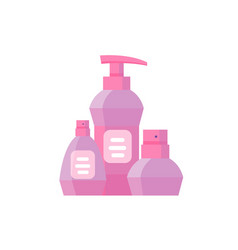 pink cosmetic products package vector image