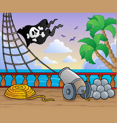 pirate ship deck theme 1 vector image