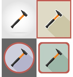 repair tools flat icons 10 vector image