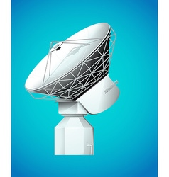 Satellite dish on blue background vector