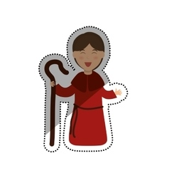 Shepherdess cartoon character vector image