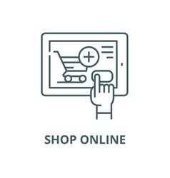 shop online line icon linear concept vector image