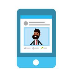 Social network profile cartoon vector