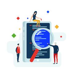 software development work together vector image