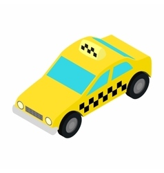 Taxi car isometric 3d icon vector