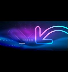 Techno neon glowing arrow background vector