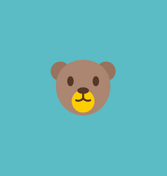 teddy bear icon flat element vector image