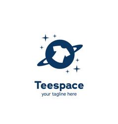 Tee tshirt planet space logo icon symbol simple vector