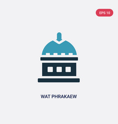 two color wat phrakaew icon from religion concept vector image