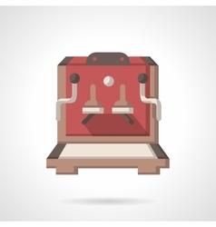 Vending coffee machine flat design icon vector image