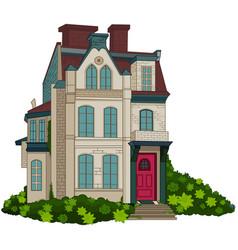 victorian house facade vector image