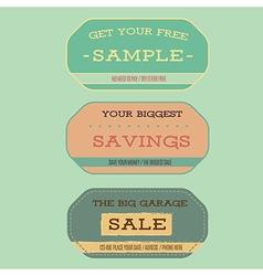 Vintage style sale labels vector