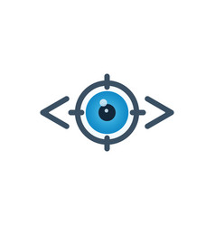 Vision and target icon vector
