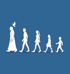 Walk with jesus follow jesus graphic vector