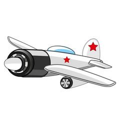 Warplane fighter drawing vector