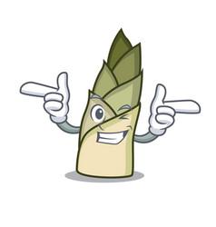Wink bamboo shoot character cartoon vector