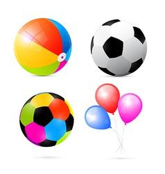 Colorful Beach Air and Beach Balls Set vector image vector image