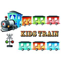 kids train vector image