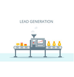 lead generation concept process of leads vector image vector image