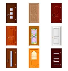 Room doors icons set vector image