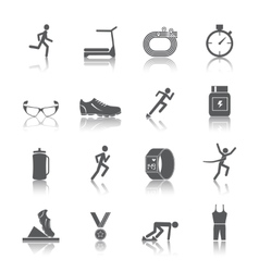 Running icons set vector image vector image