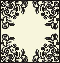 black design pattern vector image vector image