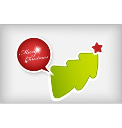 christmas paper badges vector image vector image