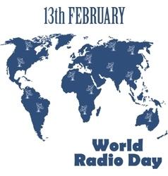 World Radio Day vector image vector image