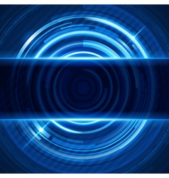 Abstract 3d digital circles light background vector image vector image