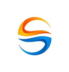 circle shape 3D technology logo vector image vector image
