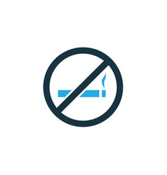 do not smoke colorful icon symbol premium quality vector image vector image