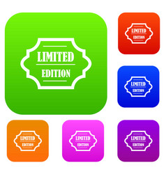 limited edition set collection vector image